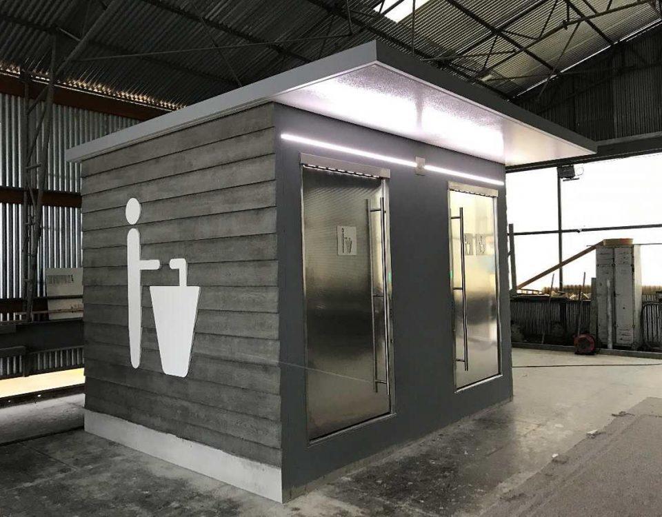Prototype bloc sanitaire poids lourds pour le groupe APRR